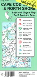Buy map Cape Cod, The Islands and North Shore, Road and Bicycle Map, waterproof by Rubel BikeMaps