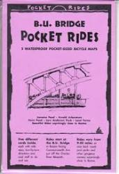 Buy map B.U. Bridge, Massachusetts, Lam Bike Map Cards by Rubel BikeMaps from Massachusetts Maps Store