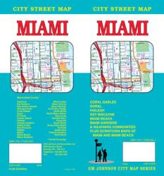 Buy map Miami, Florida by GM Johnson