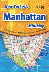 Buy map New Yorkers Manhattan Mini-Map by Opus Publishing from New York Maps Store