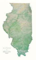 Buy map Illinois, Physical by Raven Press from Illinois Maps Store