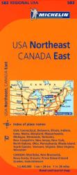 Buy map United States, Northeastern and Canada, Eastern (583) by Michelin Maps and Guides from United States Maps Store