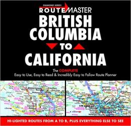 Buy map British Columbia to California, Drop-Down Route Planner by Route Master from Canada Maps Store