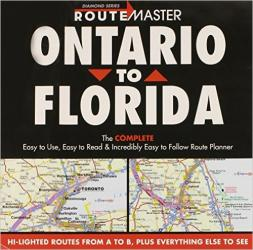 Buy map Ontario to Florida Drop Down by Route Master from Canada Maps Store