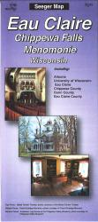 Buy map Eau Claire, Chippewa Falls and Menomonie, Wisconsin by The Seeger Map Company Inc. from Wisconsin Maps Store
