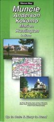 Buy map Muncie, Anderson, Kokomo, Marion and Huntington, Indiana by The Seeger Map Company Inc. from Illinois Maps Store