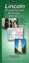 Buy map Lincoln, Grand Island and Kearney, Nebraska by The Seeger Map Company Inc. from Nebraska Maps Store