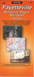 Buy map Fayetteville, Bentonville, Rogers and Springdale, Arkansas by The Seeger Map Company Inc. from Arkansas Maps Store