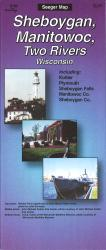 Buy map Sheboygan, Manitowoc and Two Rivers, Wisconsin by The Seeger Map Company Inc. from Wisconsin Maps Store