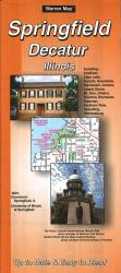 Buy map Springfield and Decatur, Illinois by The Seeger Map Company Inc. from Illinois Maps Store