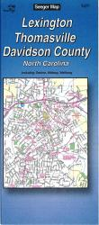 Buy map Lexington, Thomasville and Davidson County, North Carolina by The Seeger Map Company Inc. from North Carolina Maps Store