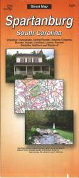 Buy map Spartanburg, South Carolina by The Seeger Map Company Inc. in South Carolina Map Store