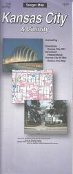 Buy map Kansas City and Vicinity, Missouri and Kansas by The Seeger Map Company Inc. from Kansas Maps Store