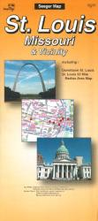 Buy map St. Louis, Missouri and Vicinity by The Seeger Map Company Inc. from Missouri Maps Store