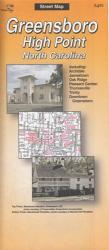 Buy map Greensboro and High Point, North Carolina by The Seeger Map Company Inc.