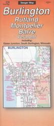 Buy map Burlington, Rutland, Montpelier and Barre, Vermont by The Seeger Map Company Inc. from Vermont Maps Store