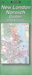 Buy map New London, Norwich and Groton, Connecticut by The Seeger Map Company Inc. from Connecticut Maps Store