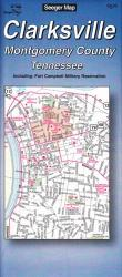 Buy map Clarksville and Montgomery County, Tennessee by The Seeger Map Company Inc.
