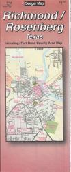 Buy map Richmond and Rosenberg, Texas by The Seeger Map Company Inc. from Texas Maps Store