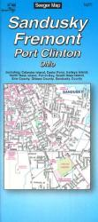 Buy map Sandusky, Fremont and Port Clinton, Ohio by The Seeger Map Company Inc. from Ohio Maps Store