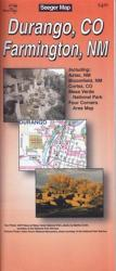 Buy map Durango, Colorado and Farmington, New Mexico by The Seeger Map Company Inc. from Colorado Maps Store