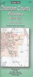 Buy map Chatham County, Pittsboro and Siler City, North Carolina by The Seeger Map Company Inc.