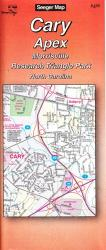 Buy map Cary, Apex, Morrisville and Research Triangle Park, North Carolina by The Seeger Map Company Inc. from North Carolina Maps Store