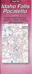 Buy map Idaho Falls and Pocatello, Idaho by The Seeger Map Company Inc. from Idaho Maps Store