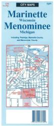 Buy map Marinette-Menominee,WI by The Seeger Map Company Inc. from Wisconsin Maps Store