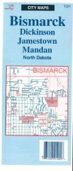 Buy map Bismarck, Dickinson, Jamestown, and Mandan, North Dakota by The Seeger Map Company Inc. from North Dakota Maps Store
