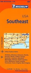 Buy map United States, Southeastern (584) by Michelin Maps and Guides from United States Maps Store