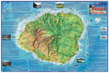 Buy map Kauai Guide Map, Laminated by Frankos Maps Ltd.
