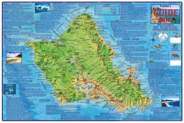 Buy map Oahu Guide Map, Laminated by Frankos Maps Ltd. from Hawaii Maps Store
