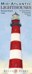 Buy map Mid-Atlantic Lighthouses Map by Bella Terra Publishing LLC from United States Maps Store
