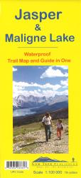 Buy map Jasper National Park and Maligne Lake, Alberta and British Columbia by Gem Trek from Canada Maps Store