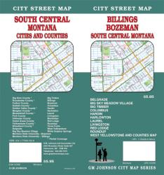 Buy map Billings, Bozeman and South Central Montana by GM Johnson from Montana Maps Store