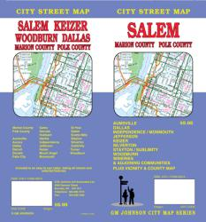 Buy map Salem, Marion and Polk Counties, Oregon by GM Johnson from Oregon Maps Store