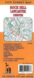 Buy map Rock Hill, Lancaster and Chester, South Carolina by GM Johnson from South Carolina Maps Store