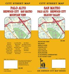 Buy map San Mateo, Silicon Valley, Palo Alto and Redwood City, California by GM Johnson