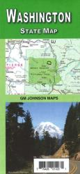 Buy map Washington State Map by GM Johnson from Washington Maps Store
