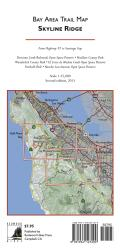 Buy map Bay Area Trail Map: Skyline Ridge by Redwood Hikes Press from California Maps Store