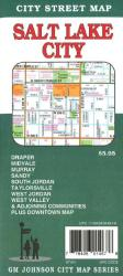 Buy map Salt Lake City, Utah by GM Johnson from Utah Maps Store