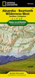 Buy map Absaroka-Beartooth Wilderness, West, Map 721 by National Geographic Maps from United States Maps Store