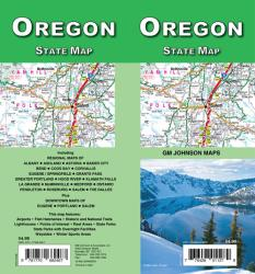 Buy map Oregon State Map by GM Johnson from Oregon Maps Store