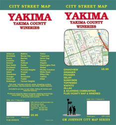 Buy map Yakima and Yakima County, Washington, Wineries by GM Johnson from Washington Maps Store