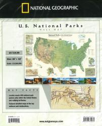 Buy map National Parks of the United States, Wall Map by National Geographic Maps from United States Maps Store