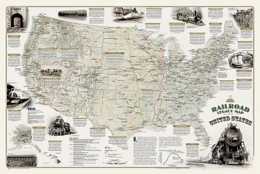Buy map Railroad Legacy Map of the US, Boxed by National Geographic Maps from United States Maps Store