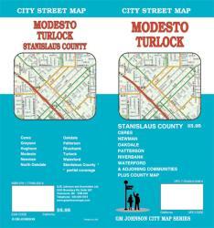 Buy map Modesto and Turlock, California by GM Johnson