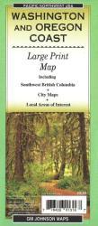 Buy map Washington and Oregon Coast, Large Print, Tourist Map by GM Johnson from United States Maps Store