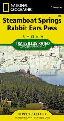 Buy map Steamboat Springs and Rabbit Ears Pass, Colorado, Map 118 by National Geographic Maps from Colorado Maps Store